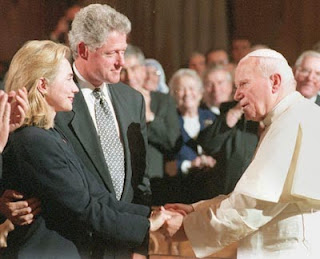 Bill, Hillary and Jean-Paul II