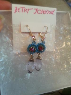 Betsey Johnson Earrings Birthday Present