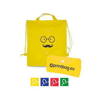 Mochilas para niños plegables personalizadas amarillas