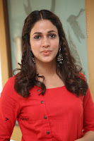 Actress Lavanya Tripathi Latest Pos in Red Dress at Radha Movie Success Meet .COM 0176.JPG