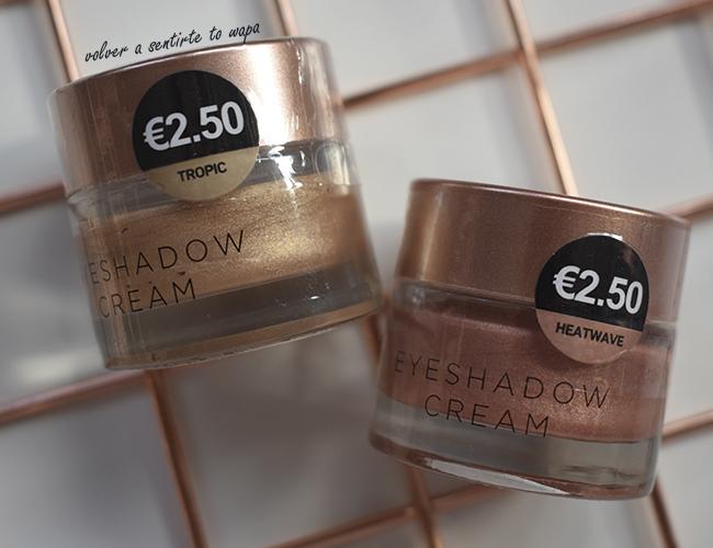 Sombras de Ojos en Crema gama Bronze de Primark