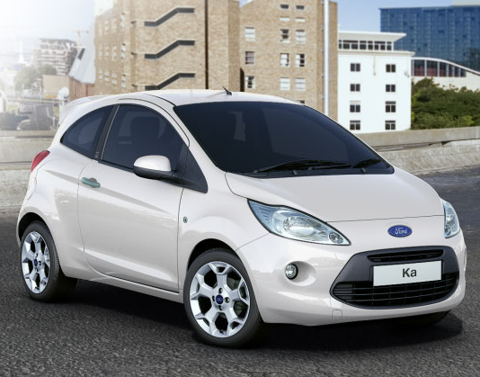 Ford Ka Crystal White (Solid)/Ford Ka Blanc Cristal (Opaque)