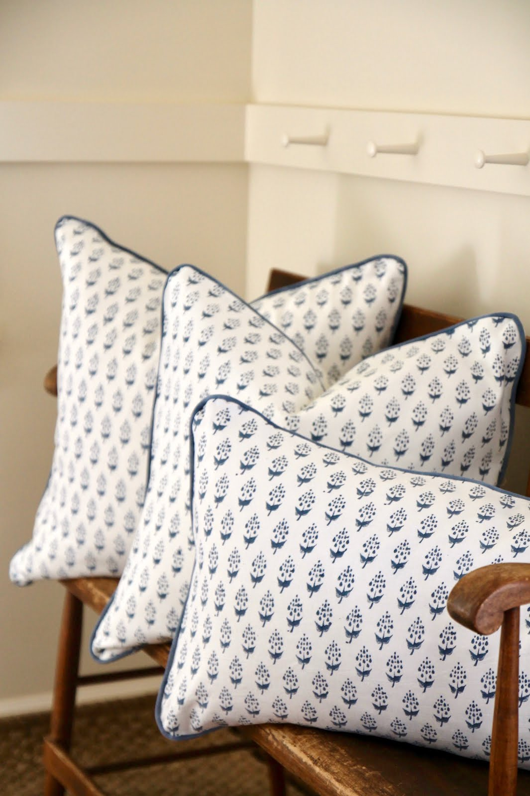 Block Print Pillows, $28-38