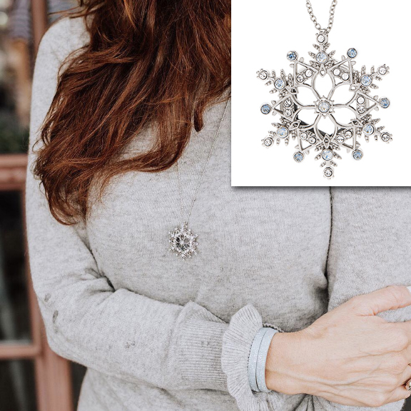 Let it Snow Silver Snowflake Origami Owl Living Locket at StoriedCharms.com for yourself or someone you love.
