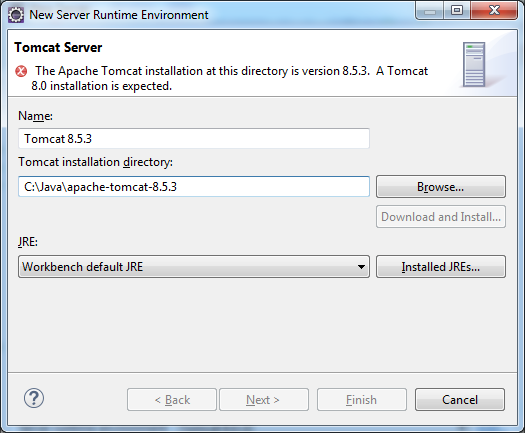 how to add apache tomcat 8 server in eclipse
