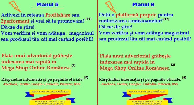 Adauga magazin in retelele de afiliere profitshare si 2performant