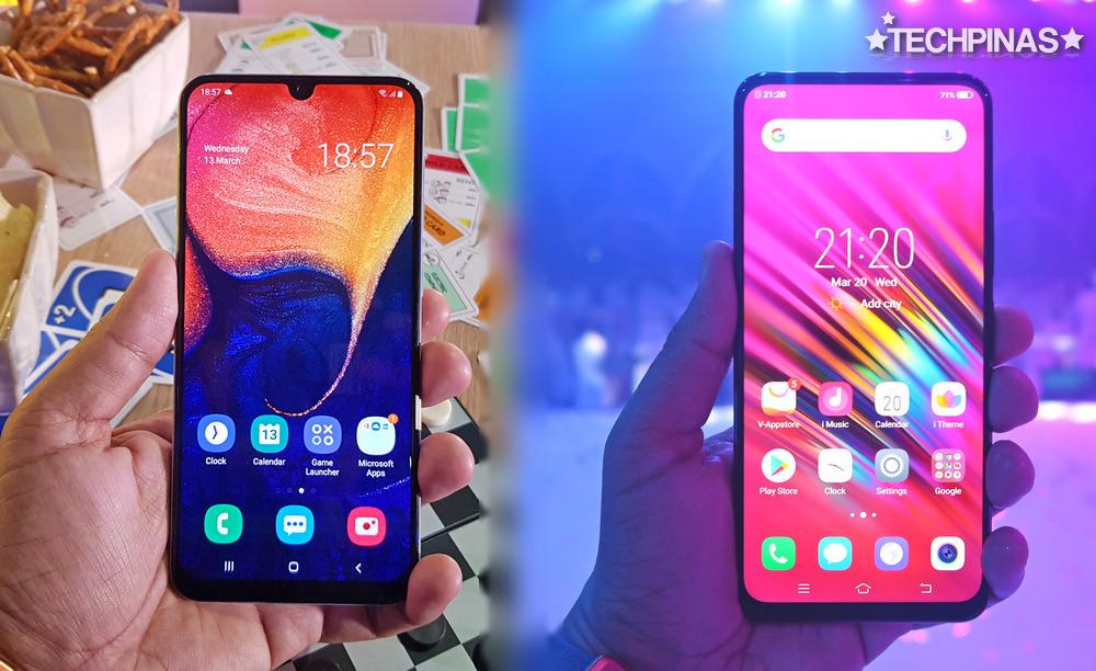 Samsung Galaxy A50 vs Vivo V15 Comparative Review : Specs, Design ...