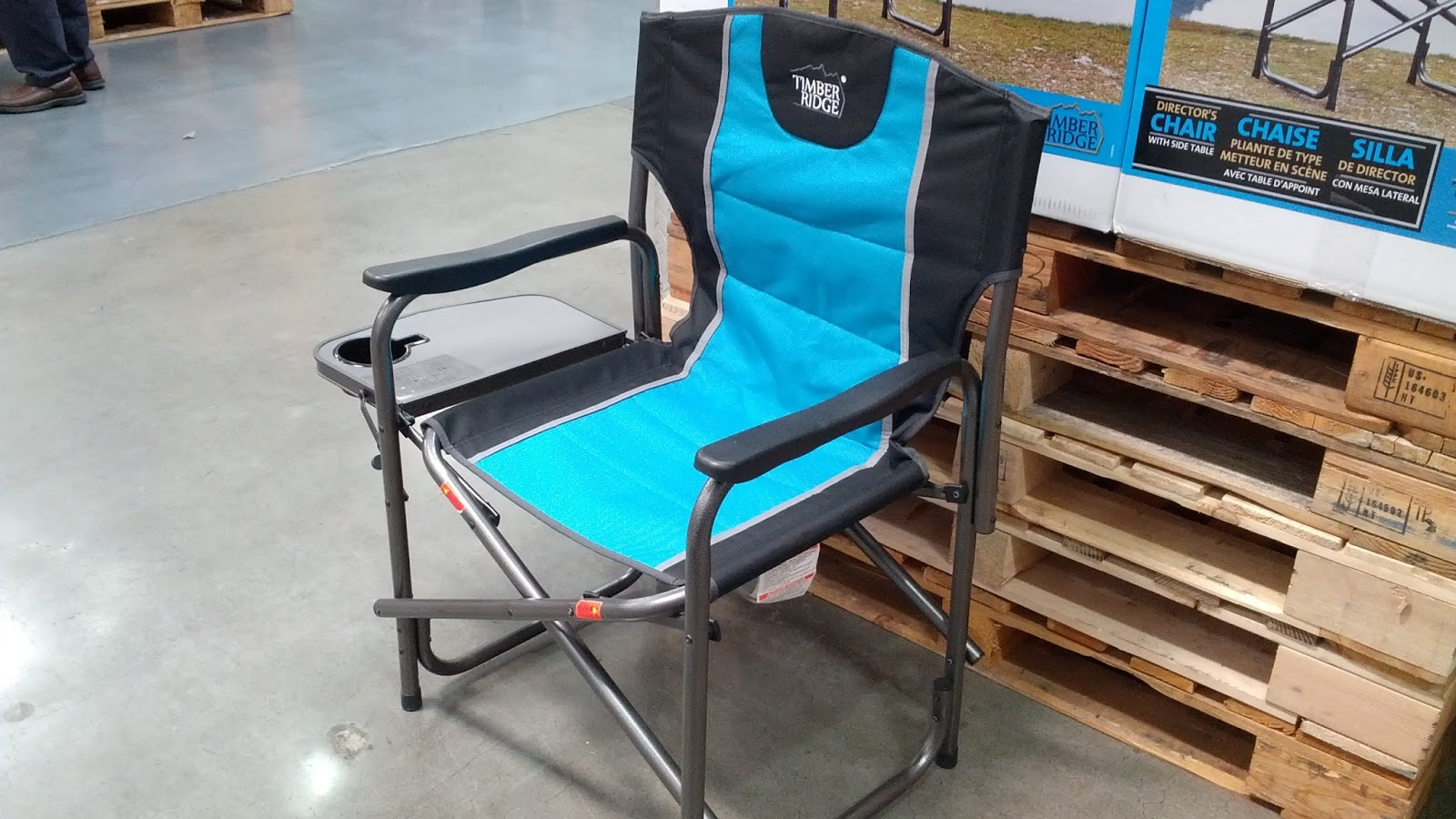 Timber Ridge Director S Chair With Side Table Costco Weekender
