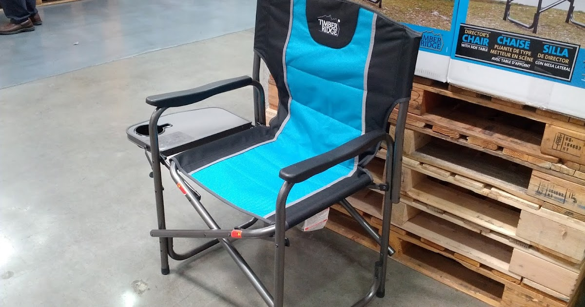 most comfortable camping chair inexpensive dining chairs timber ridge director's with side table | costco weekender