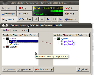 qjackctl selecting jnoise input