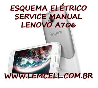 Esquema Elétrico Smartphone Celular Lenovo A706 Manual de Serviço Service Manual schematic Diagram Cell Phone Smartphone Lenovo A706