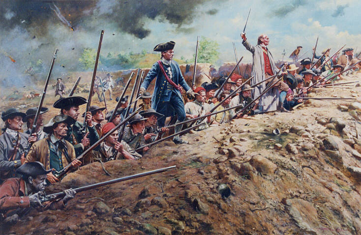 A history of the battle of bunker hill in the american revolutionary war