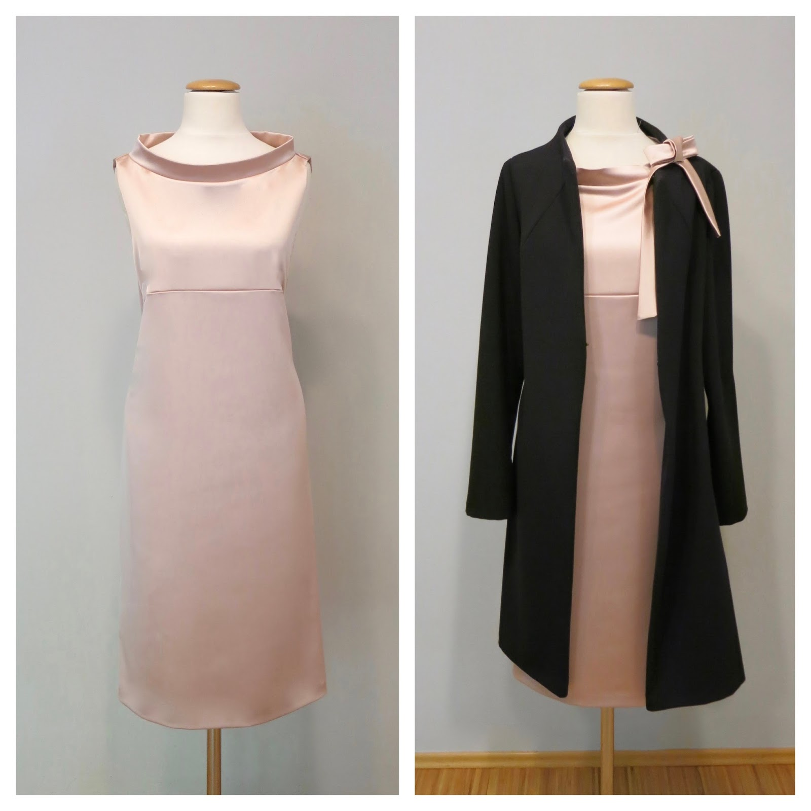 lea kovats rosa kleid mit mantel. Black Bedroom Furniture Sets. Home Design Ideas