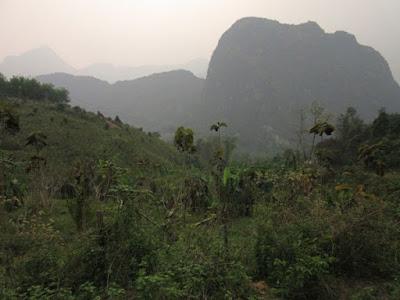 Cerca de Nong Khiaw, Laos