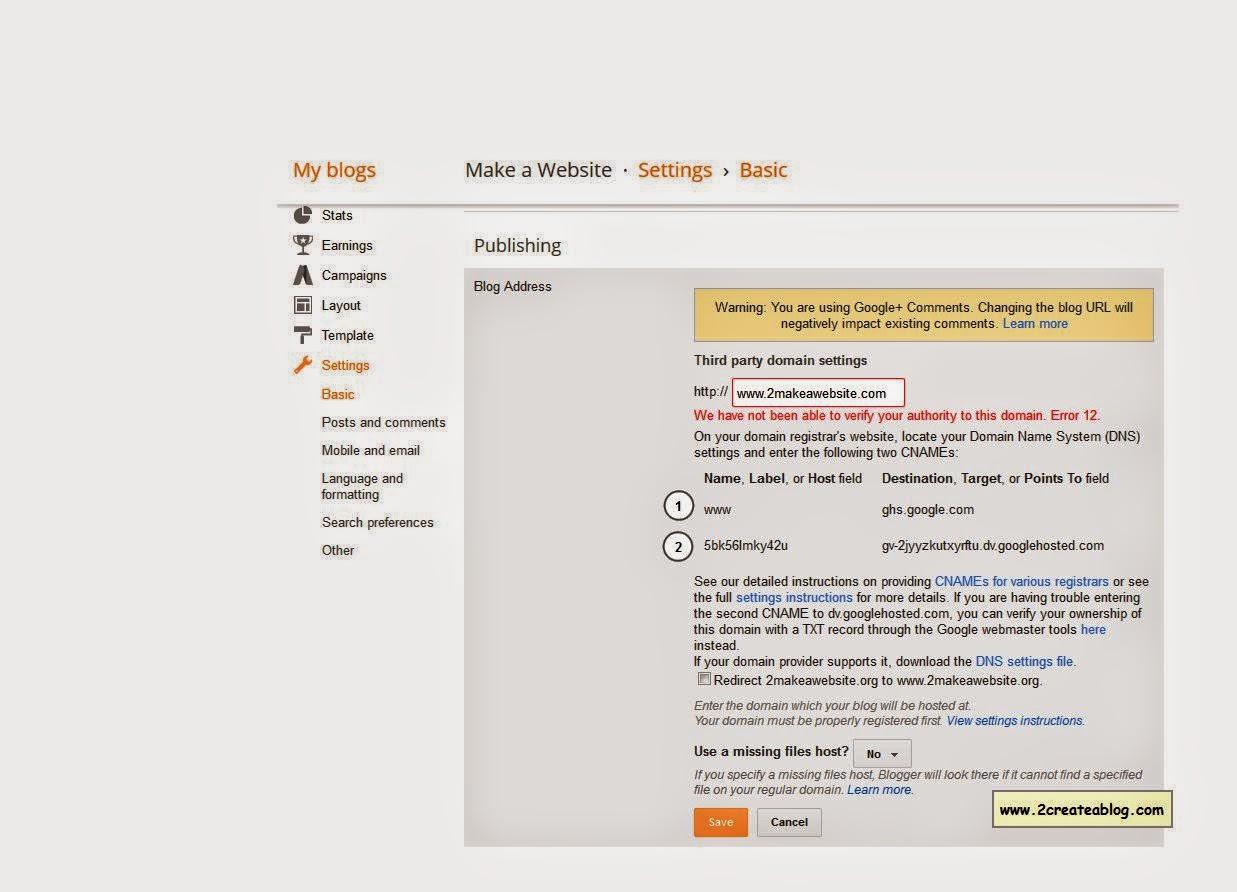 Custom Domain : Blog Address - Third Party Domain Settings - Image - 3