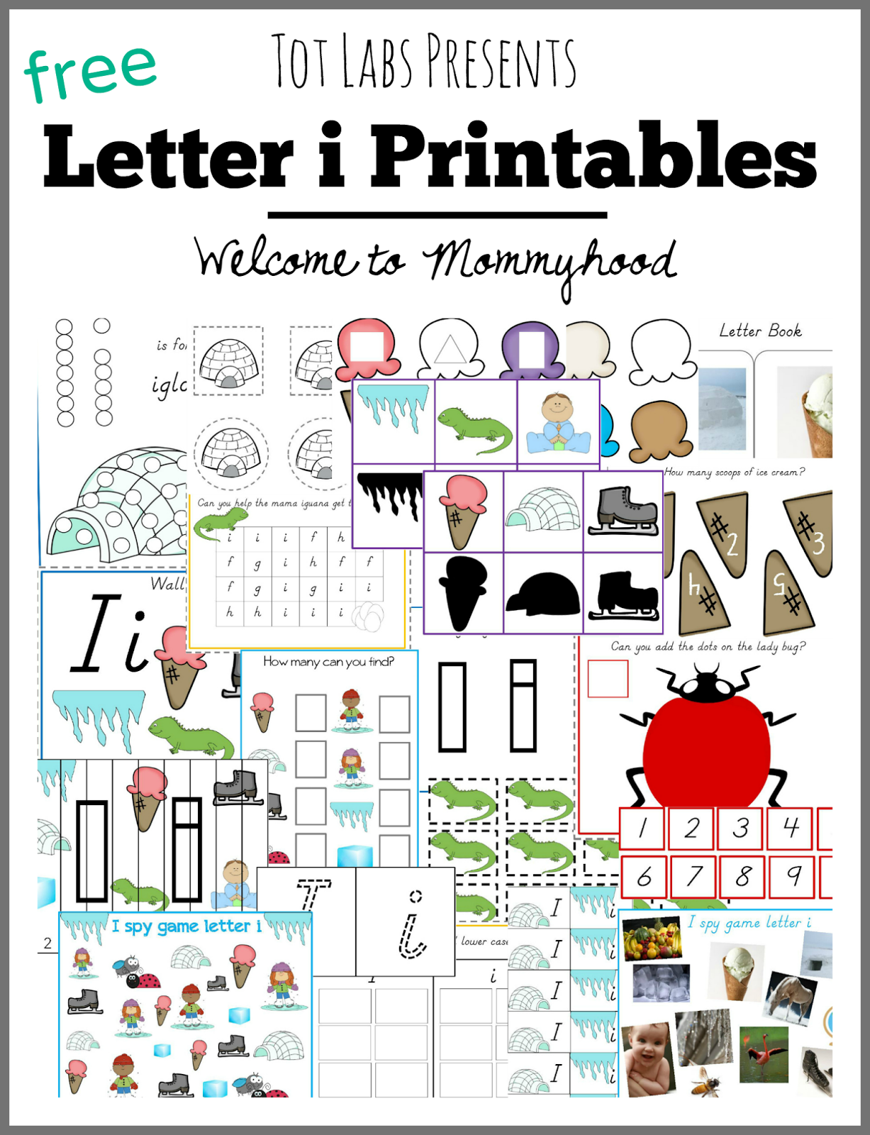 Free Letter I Printables Pack For Hands On Activities