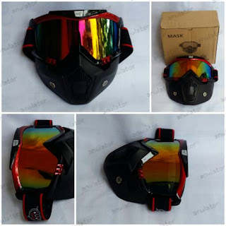 Goggle Antman kacamata masker helm, snail beon shark osbe