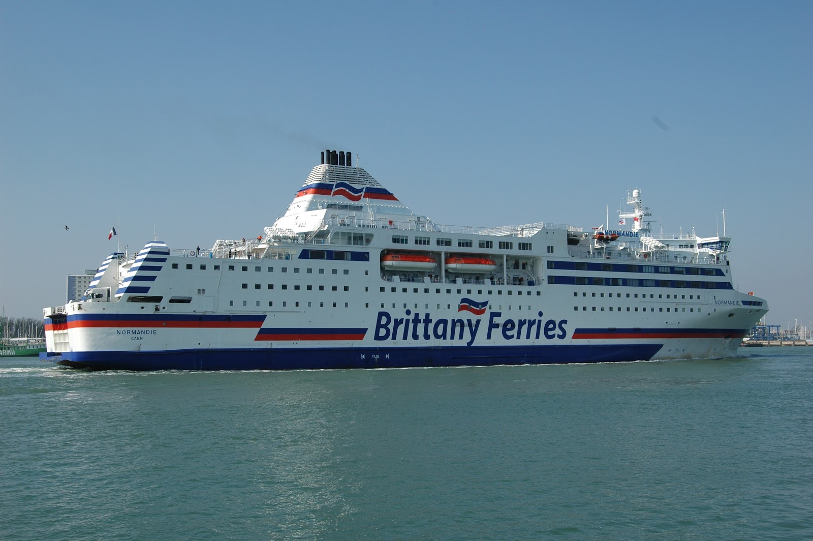 brittany ferries normandie at portsmouth. Black Bedroom Furniture Sets. Home Design Ideas