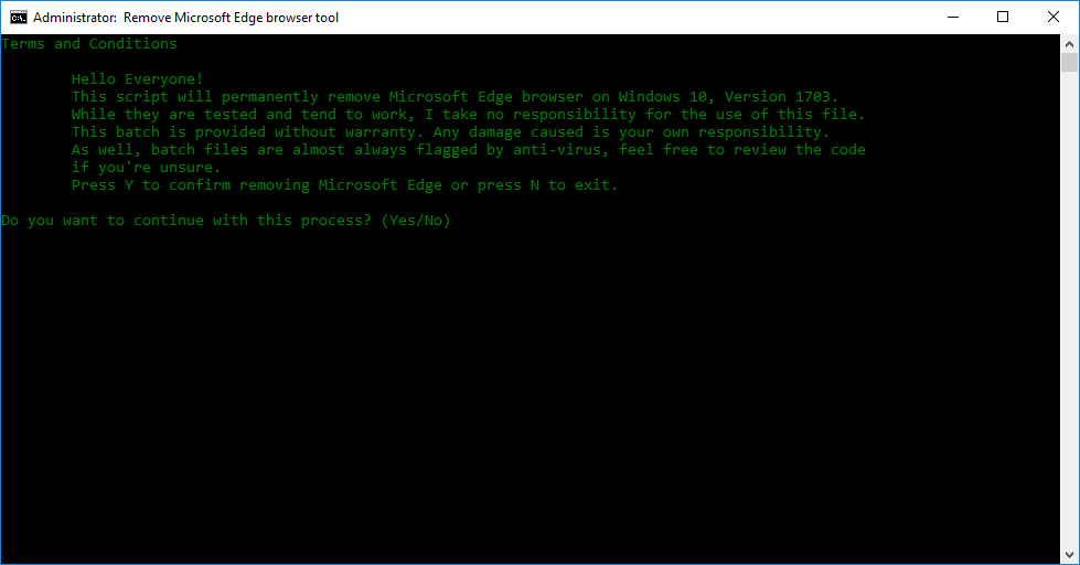 Gỡ bõ ứng dụng hệ thống trong Windows 10, Version 1703 bằng batch script