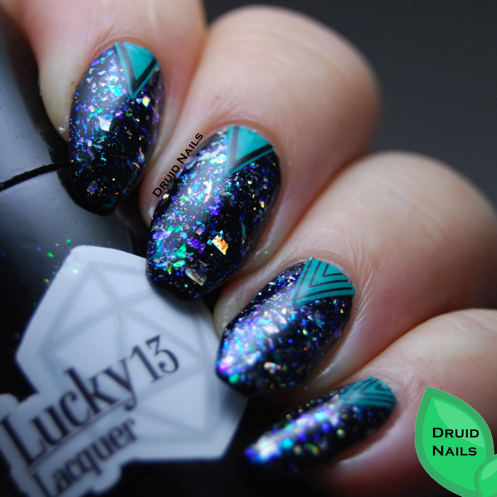 Druid Nails 26 Great Nail Art Ideas Made With A Mat Or On Plastic