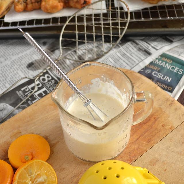 making Meyer Lemonnaise dip