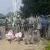 Photo: Customs Officers Punish Two Men For Impersonating Them