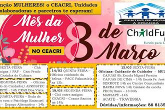 Confira a programação do Mês da Mulher na ONG Ceacri