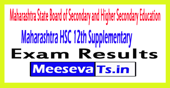 Maharashtra HSC 12th Supplementary Result 2017