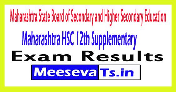 Maharashtra HSC 12th Supplementary Result 2017