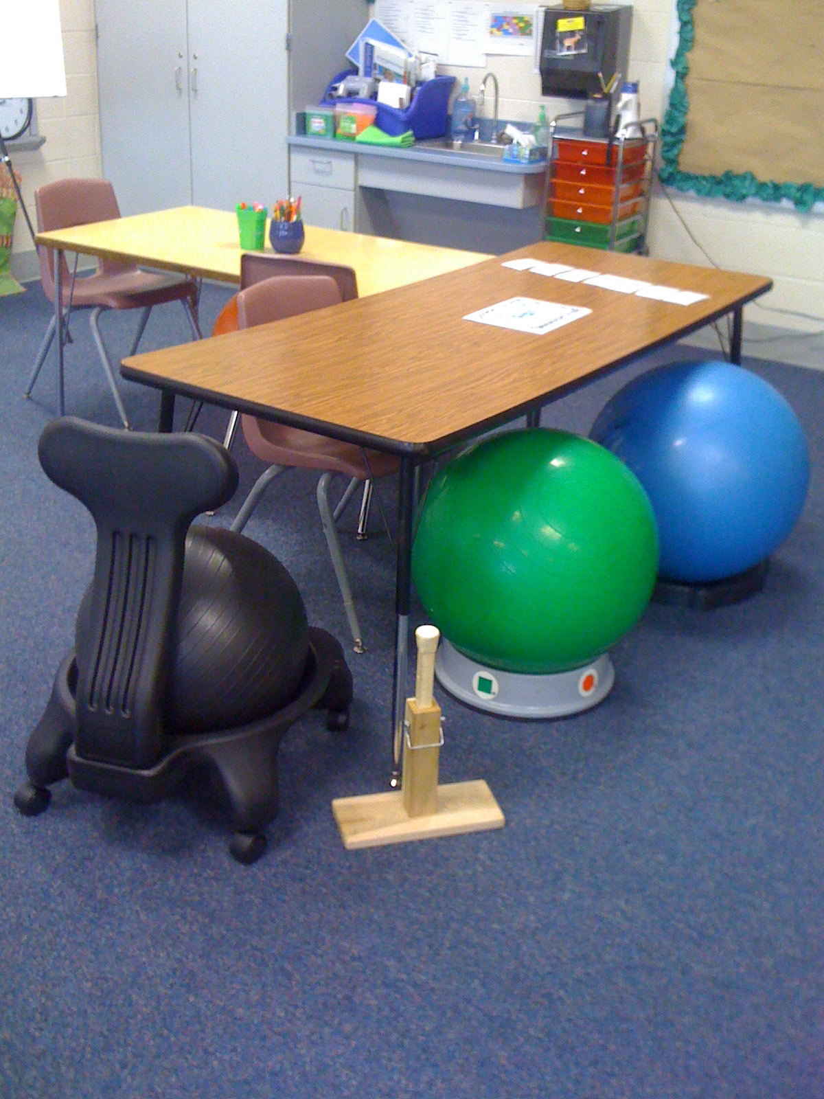 chair for autistic child hickory the grading scale classroom set up