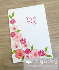 Beautiful Bouquet beginner easy to make card Stampin Up
