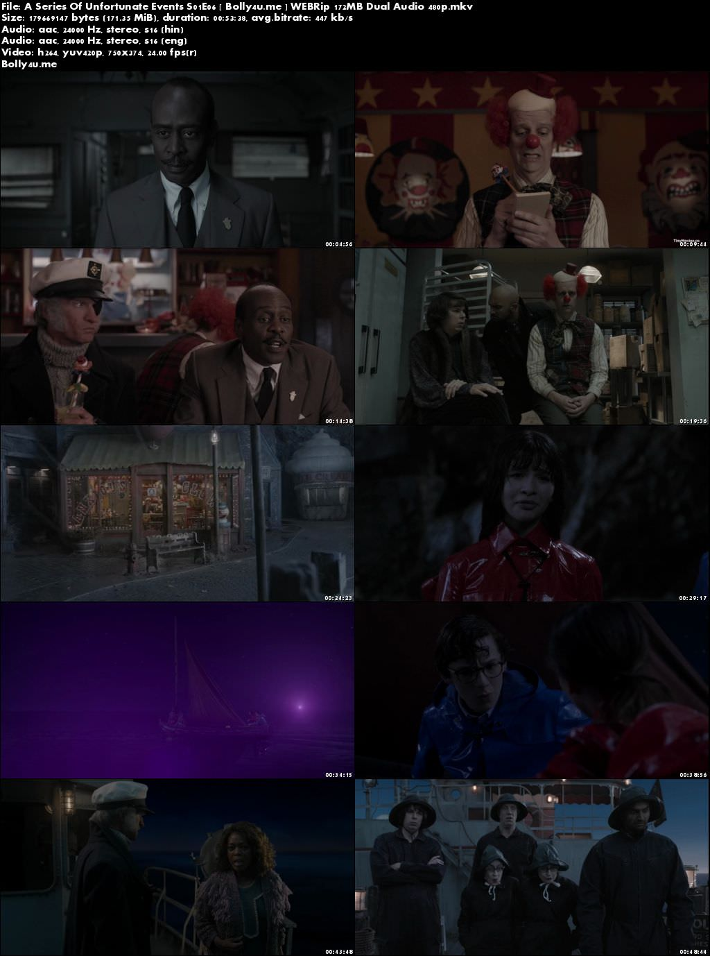 A Series Of Unfortunate Events S01E06 WEBRip 170MB Hindi Dual Audio 480p Download