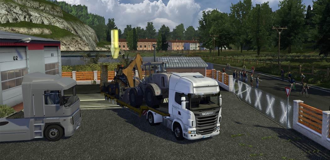 تحميل لعبة الشاحنات euro truck simulator 3