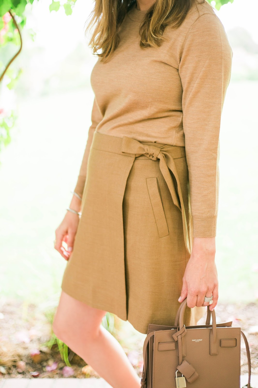 beige monochromatic outfit