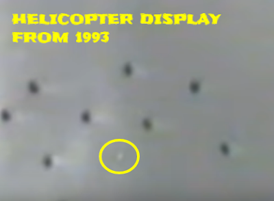 Then there's this UFO going in between a swarm of UFOs.
