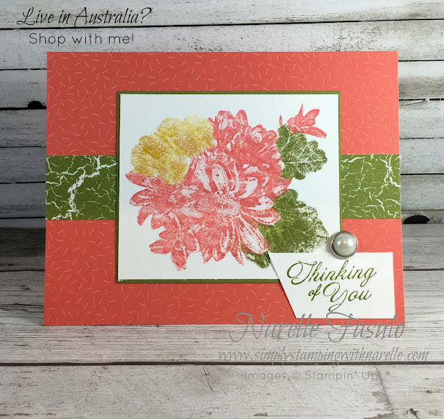 Heartfelt Blooms - a Distinktive stamp that lays ink down uniquely to create a photographic finish - get yours for free here - https://www3.stampinup.com/ECWeb/product/147202/heartfelt-blooms-clear-mount-stamp-set?dbwsdemoid=4008228 - but only until the end of March 2018