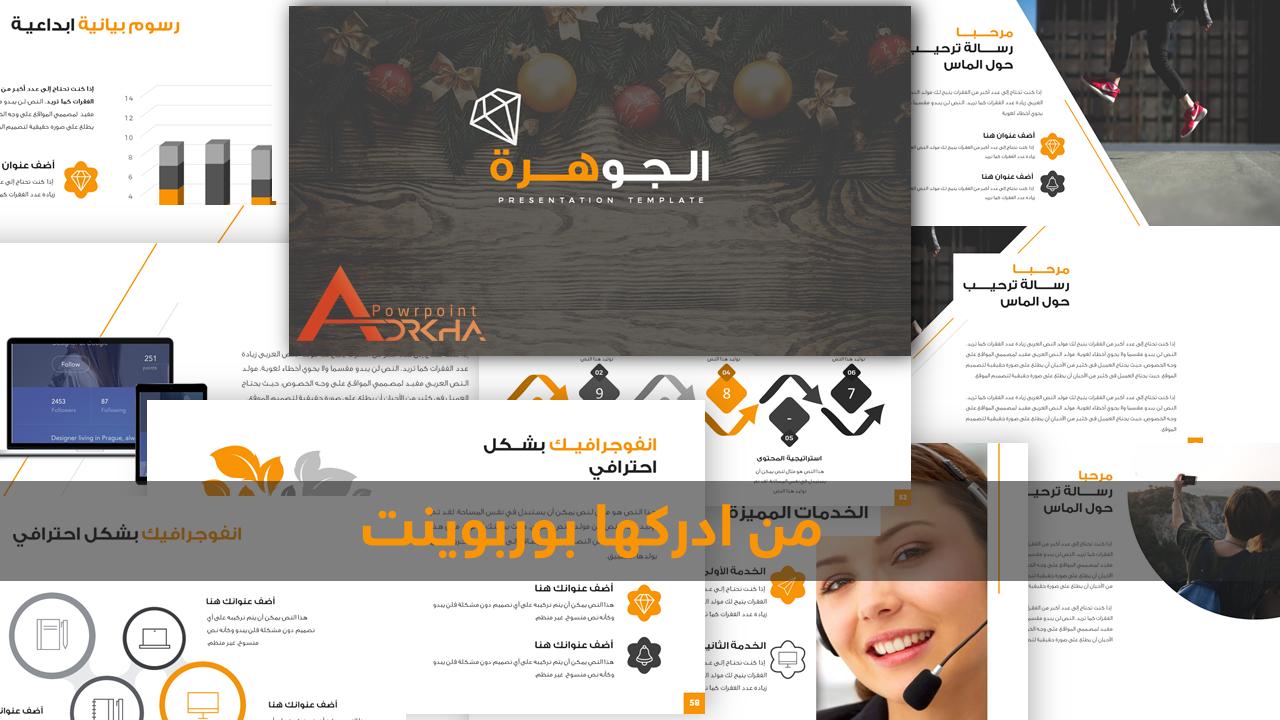 عروض بوربوينت عربية متحركة قابلة للكتابة