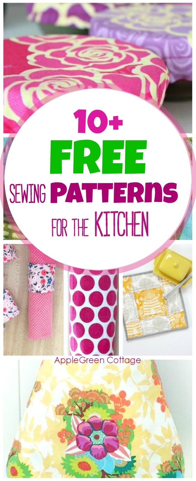 10 handy and free sewing patterns for the kitchen applegreen 10 adorable useful and free diy sewing projects for your kitchen all include jeuxipadfo Gallery