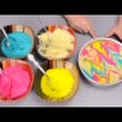 Yurian HasarD: [How To Make] Marbled Easter Cake with Rabbit Peeps and Easter M&M's