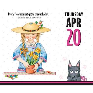 "Mary Engelbreit 2017 ""Life Happens"" Inspirational Desk Calendar"