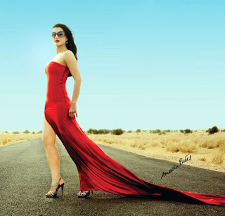 Sexy Amisha Patel in Red Dress
