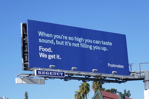 high taste sound postmates billboard
