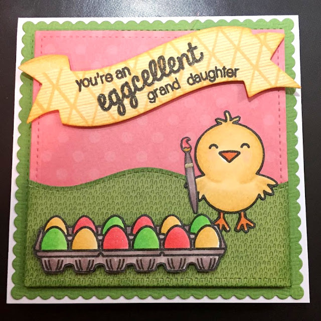 Sunny Studio: A Good Egg Easter Card by Sarah Elliott