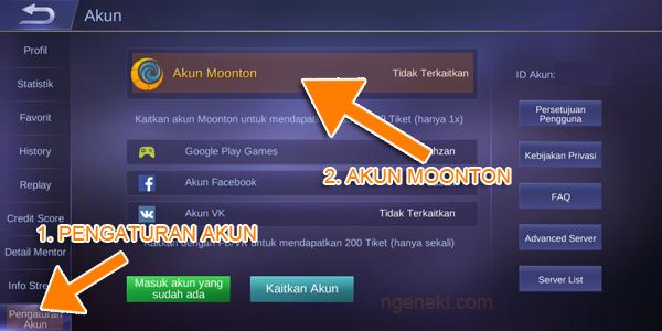 Cara Membuat Akun Moonton di Mobile Legends dan Melakukan Bind