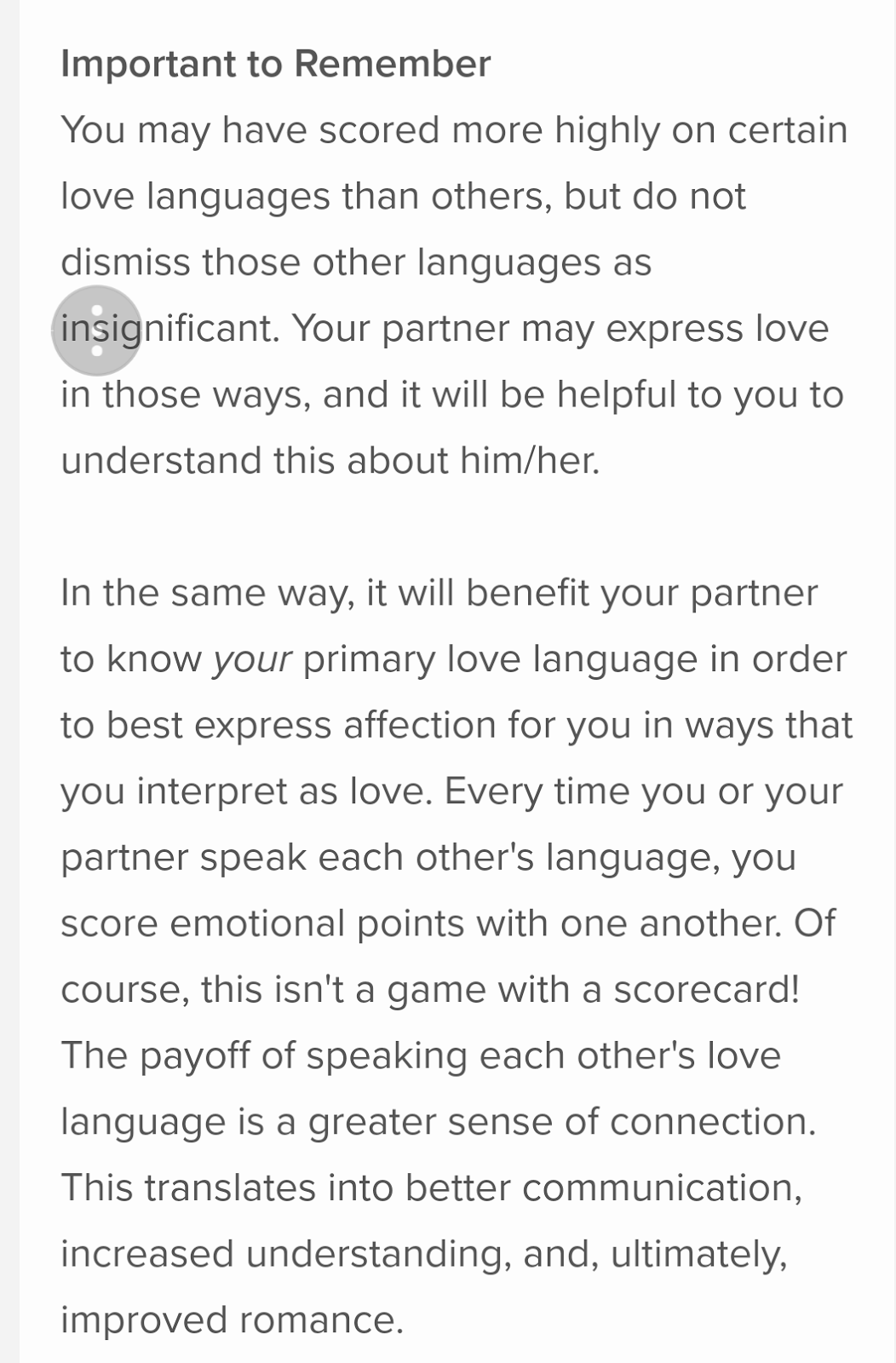 Five love languages quiz for singles