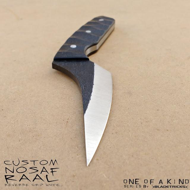 Bladetricks pakal Nosaf Raal knife