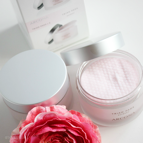 arcona triad toner pads review, gentle toner, toner for combination and acne skin