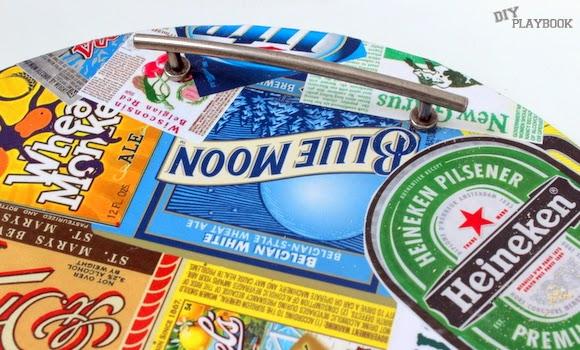 Make the handles flush: DIY Beer Tray | DIY Playbook