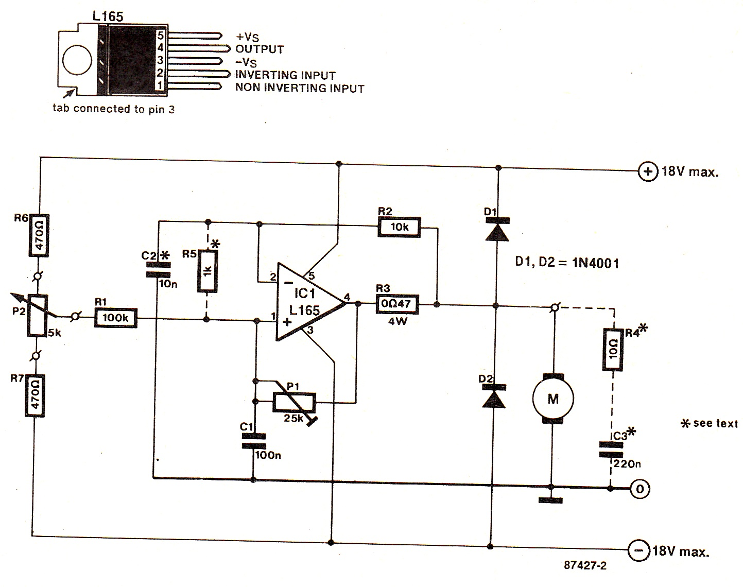 Simplest DC Motor Speed Controller Circuit Diagram