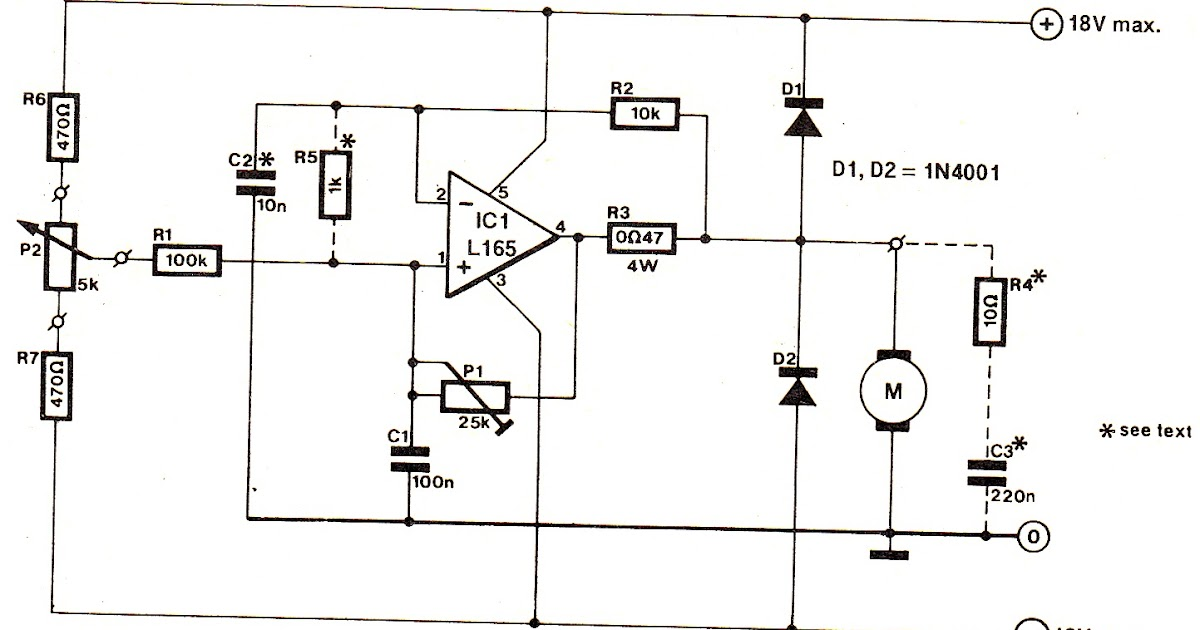 Simplest DC Motor Speed Controller Circuit Diagram
